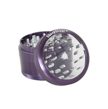 Load image into Gallery viewer, SharpStone® Clear Top 4 Piece Herb Grinder - Purple
