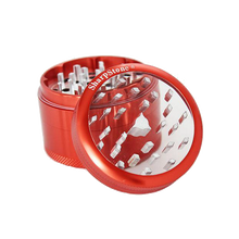 Load image into Gallery viewer, SharpStone® Clear Top 4 Piece Herb Grinder - Red