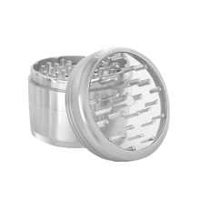 Load image into Gallery viewer, SharpStone® Clear Top 4 Piece Herb Grinder - Silver