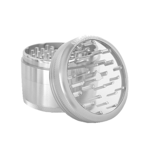 SharpStone® Clear Top 4 Piece Herb Grinder - Silver