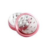 SharpStone® Clear Top 2 Piece Herb Grinder - Pink