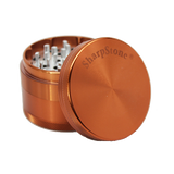 SharpStone® Hard Top 4 Piece Herb Grinder - Brown