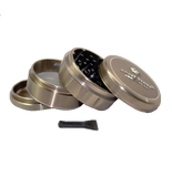 SharpStone® V2 Hard Top 4 Piece Herb Grinder - Brown
