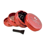 SharpStone® V2 Hard Top 4 Piece Herb Grinder - Red