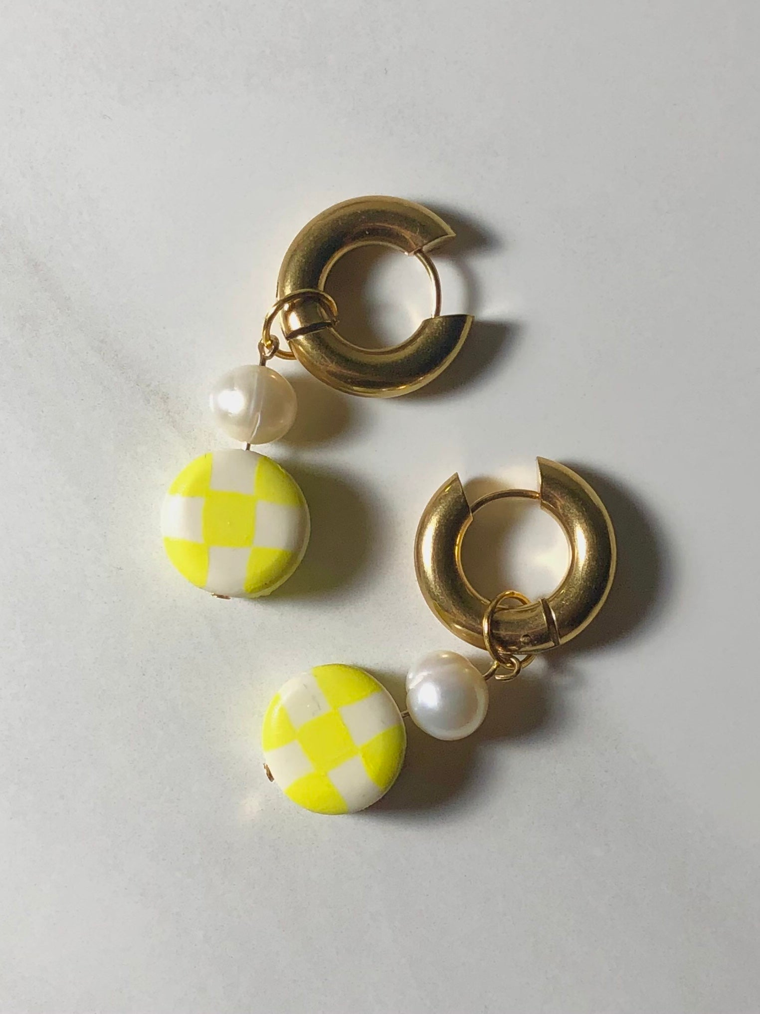 Checker Bored Hoops - Lemon