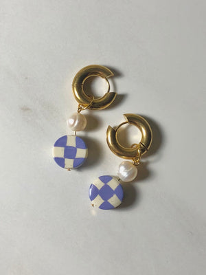 Checker Bored Hoops - Periwinkle