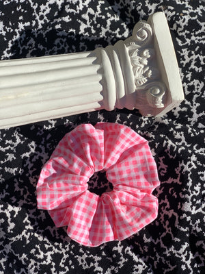 Halo Scrunchie - Pink Gingham