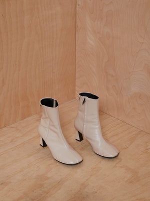Reike Nen Cream Leather Booties