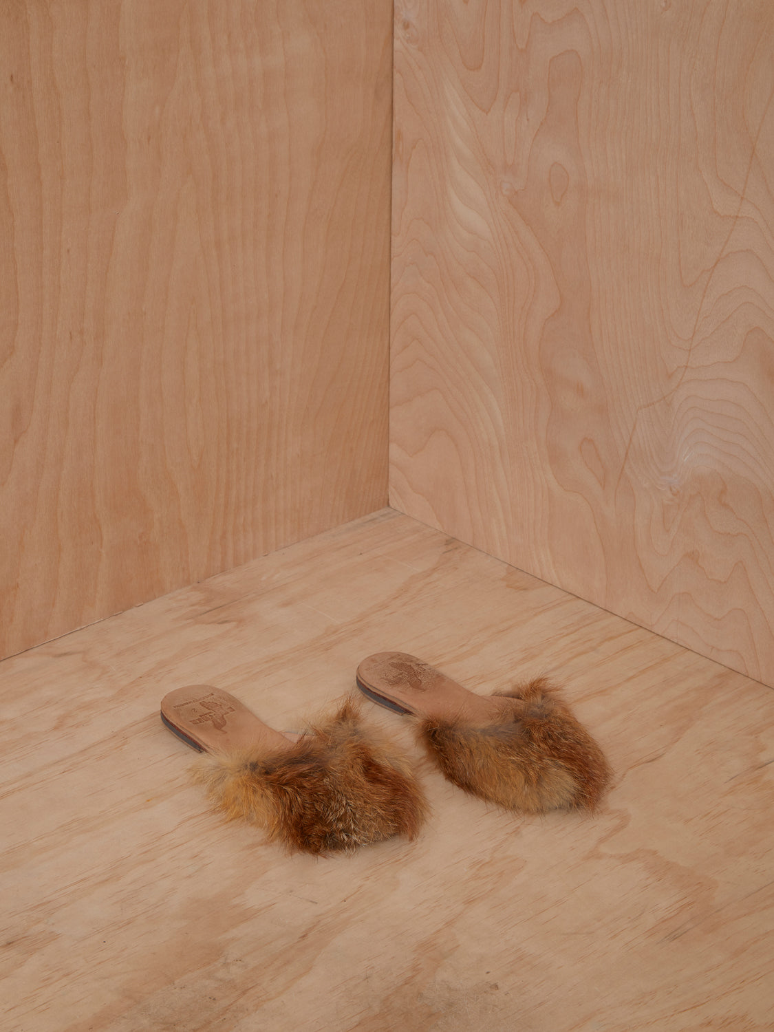 Brother Vellies Tan Fur Slippers
