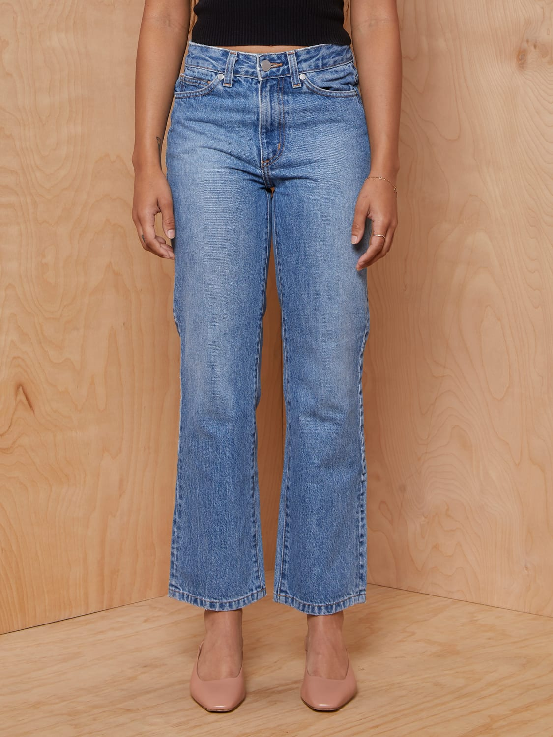 Need Lighwash Straight Leg Jeans