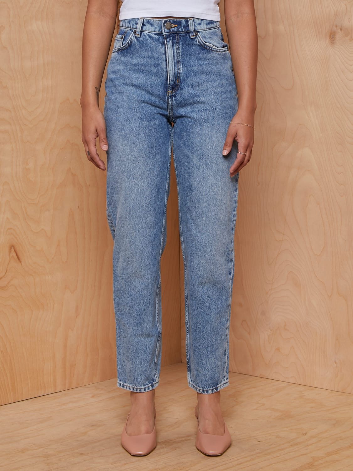 & Other Stories Lightwash Straight Leg Jeans