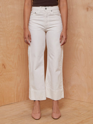 Brock Collection Beatrice wide-leg cropped jeans