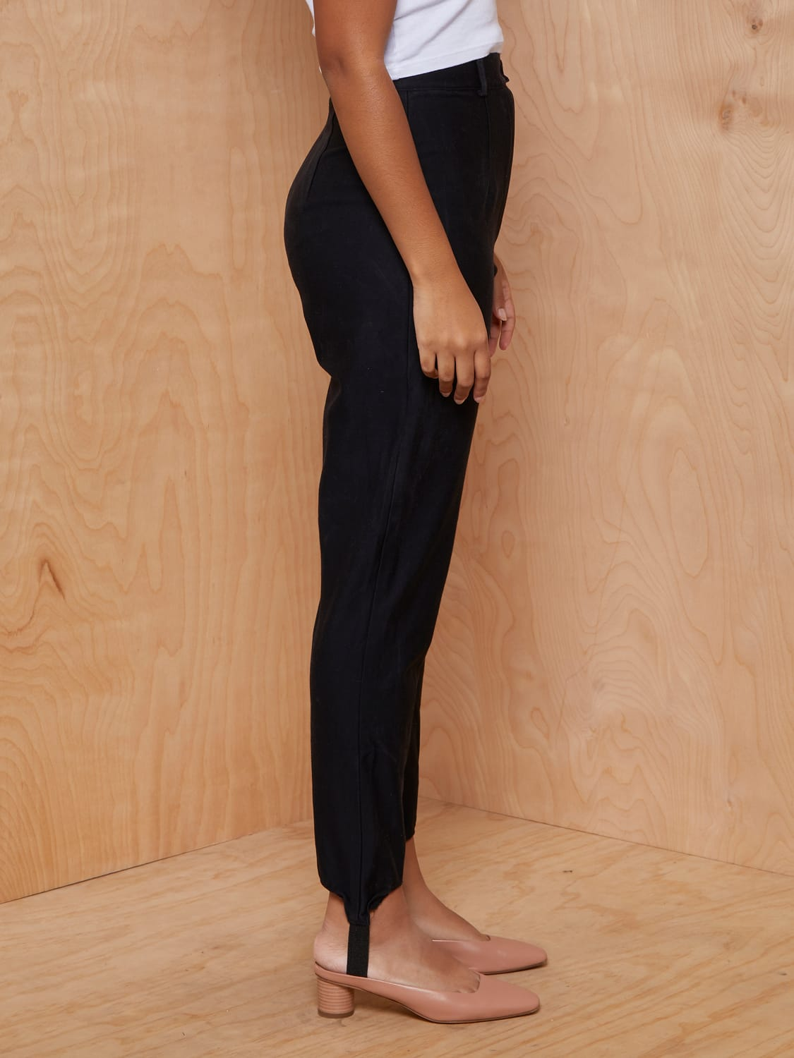 Vintage ZZ Michaels Black Stirrup Pants