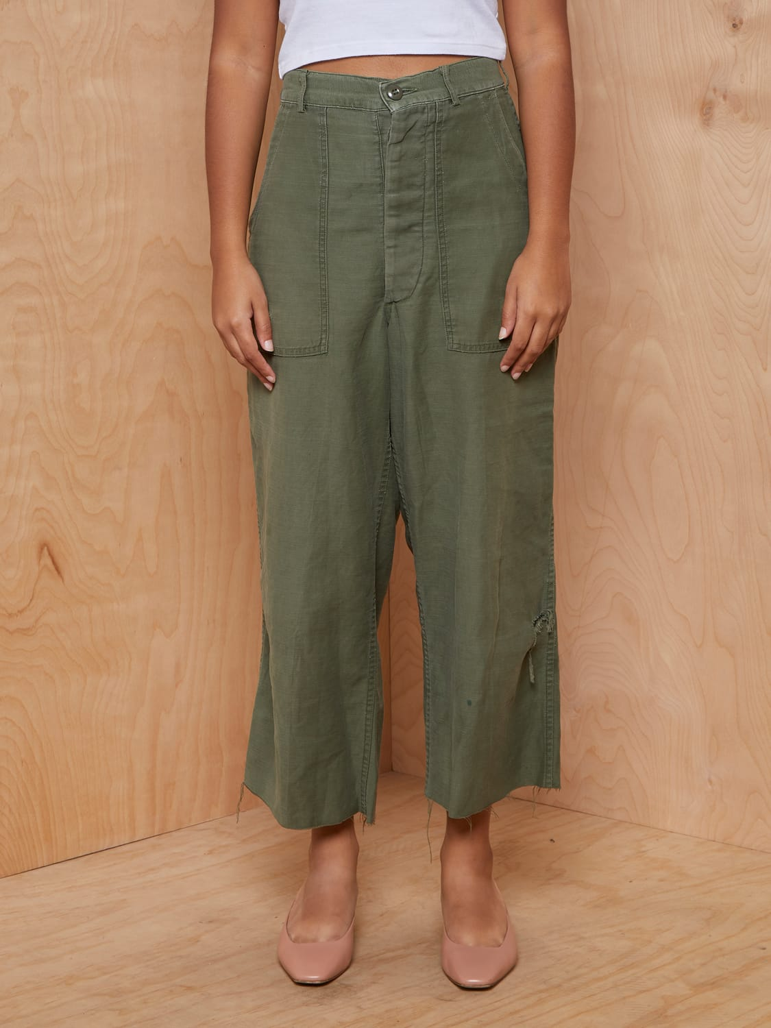 Vintage Moss Green Army Pants