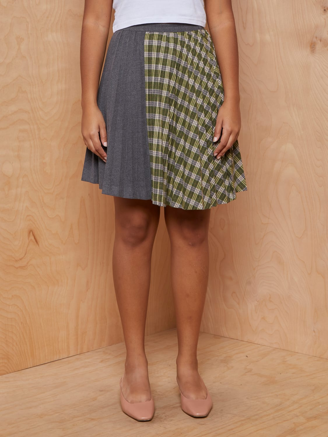 Rocket x Lunch Diagonal Line Wool Skirt
