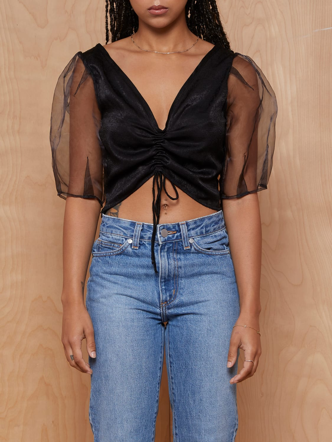 Tach Delmira Silk Crop Top