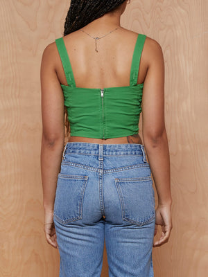Trashy Diva Green Crop Top with Back Zip