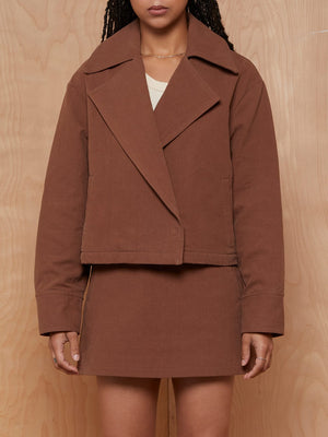 Incu Collection Brown Skirt/Jacket Set