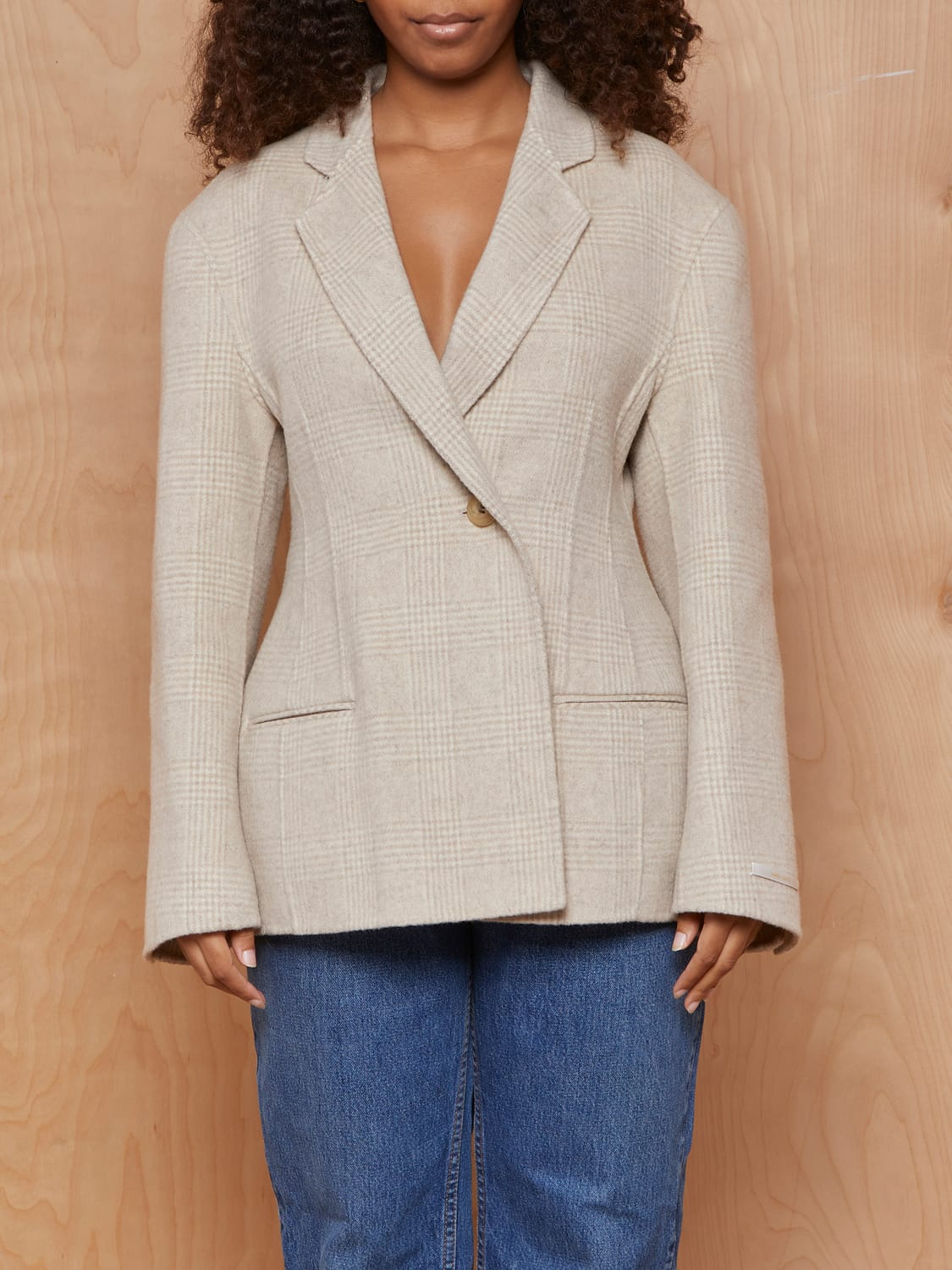 Love You So Much Beige Wool Blazer