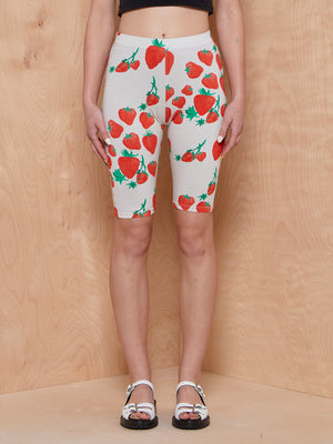 Helmstedt Strawberry Print Biker Shorts