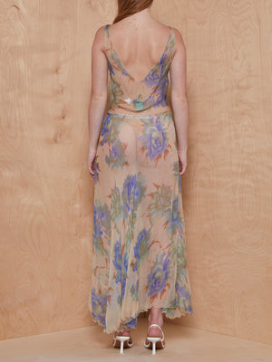 Mary Greene Sheer Floral Maxi Dress
