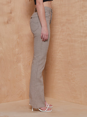 Lee Plaid Pants with Raw Hem