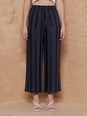 & Other Stories Striped Navy Trousers