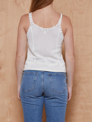 Club Monaco White Knit Tank