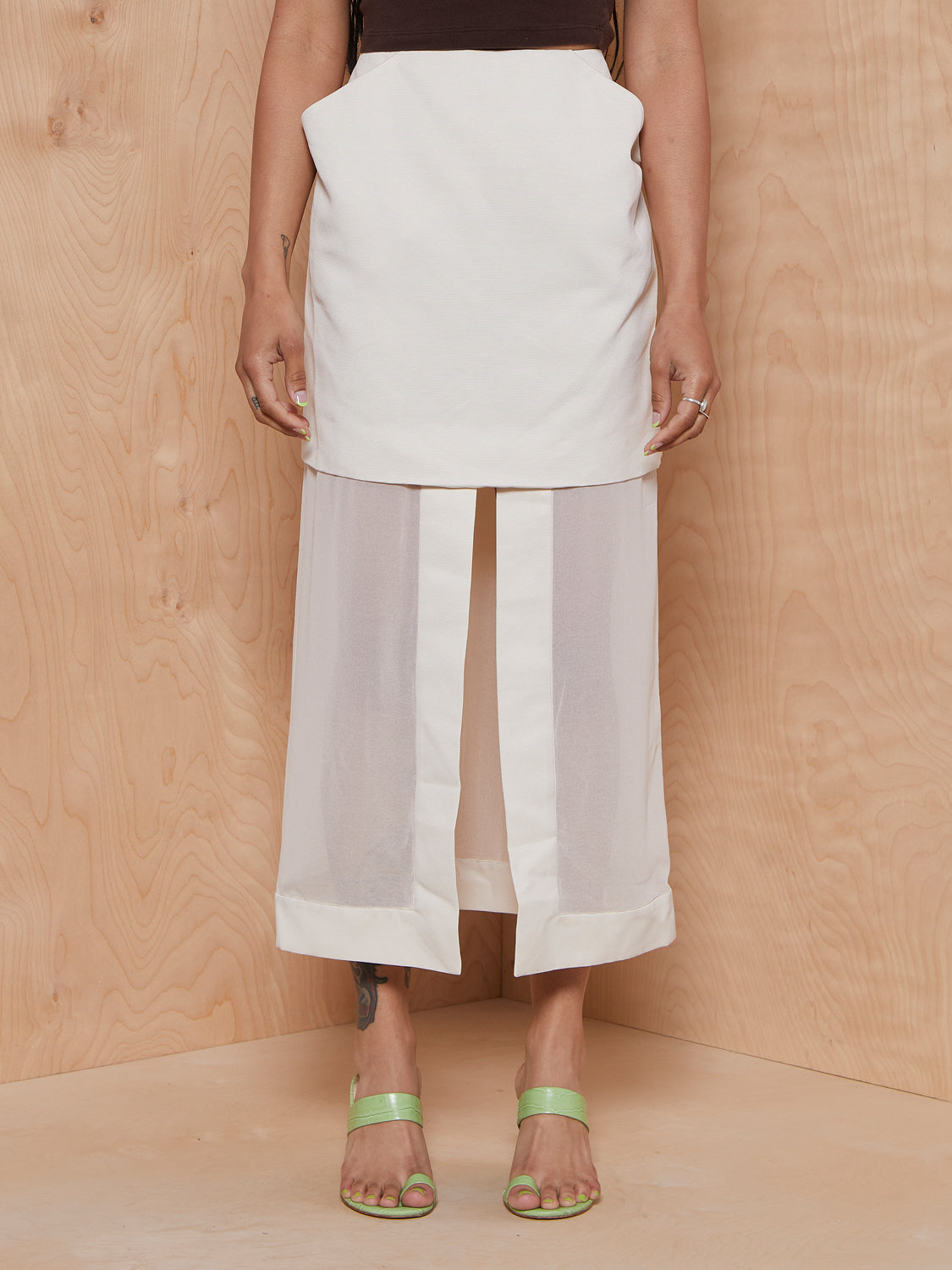 CMEO/Collective Beige Skirt