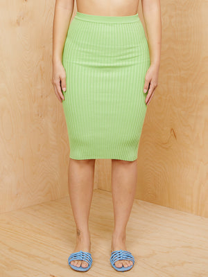Giu Giu Green Knit Skirt