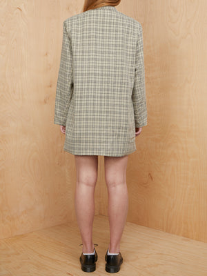 Nasty Gal Check Blazer Dress