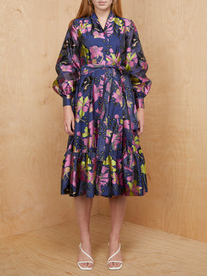 Stine Goya Floral Wrap Dress with Tie