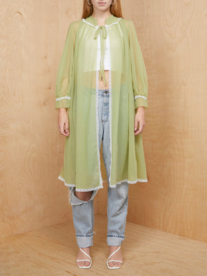 Vintage Green Sheer Duster