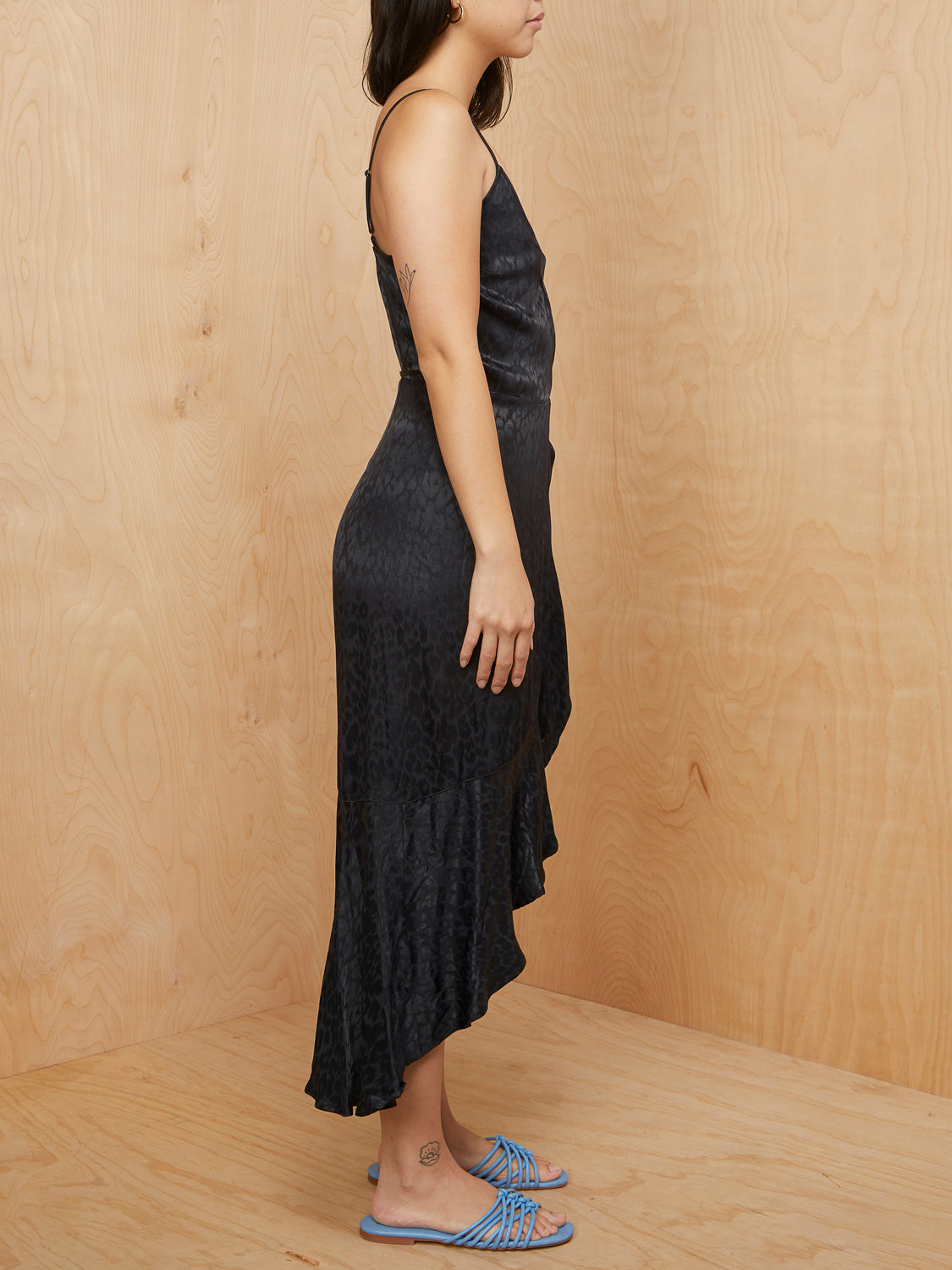 Abercrombie & Fitch Black Wrap Dress