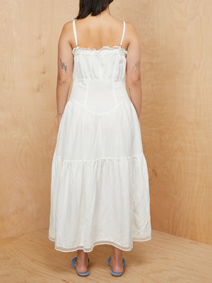 Christy Dawn Tiered White Dress