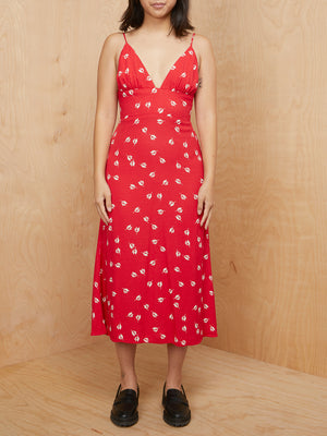 Reformation Red Floral Dress