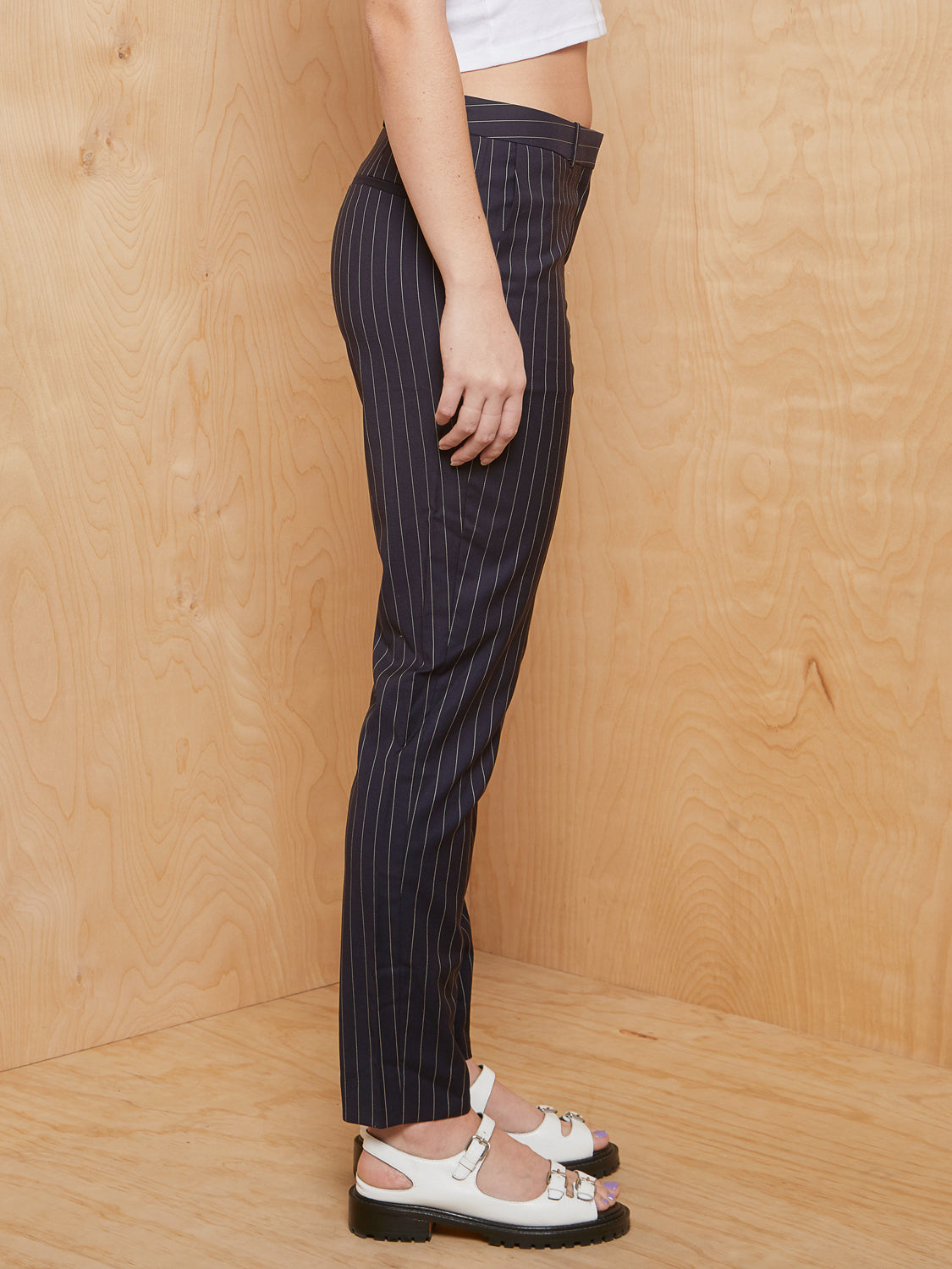 HUGO BOSS Pinstriped Crop Trouser