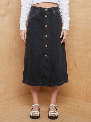 GOLDSIGN Black Denim Skirt
