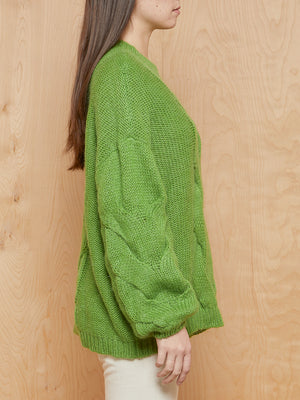 GESTUZ Green Mohair Chunky Sweater