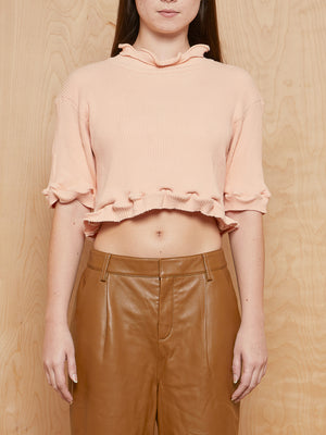 DESIREÉKLEIN Shortsleeve Knit Cropped Top