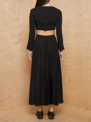 A.L.C. Cut Out Pleated Dress