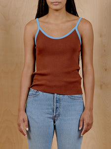 Oak + Fort Brown Tank With Blue Trim