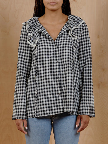 Stelen Gingham Peasant Blouse