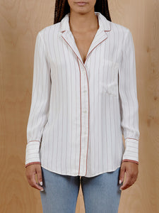 Frame Silk Pinstripe Button Up