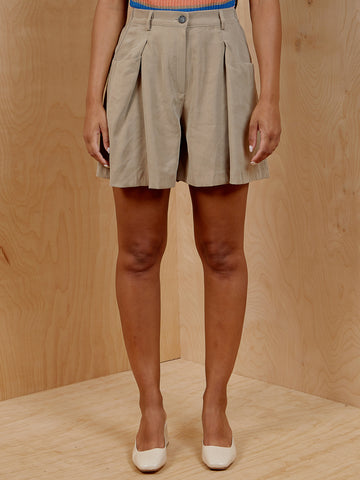 Beige Suit Short Set