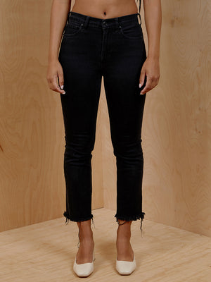 Everlane Black Cut Off Denim Jeans
