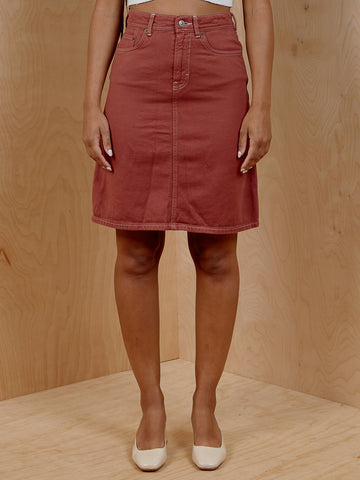Acne Studios Rust Denim Skirt