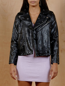 Honey Punch Embellished Moto Jacket