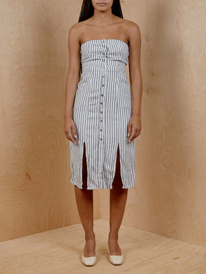 BDG Striped Strapless Dress