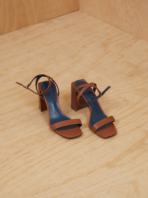 Charles + Keith Brown Heeled Sandals